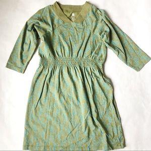 Tea Collection Olive Knit Dress EUC